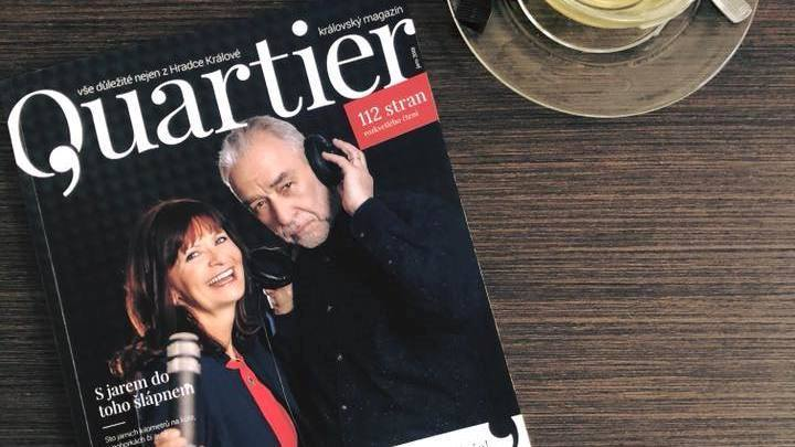 Je nám velkou ctí být součastí nejnovějšího čísla spoločenskýho magazínu Quartier.