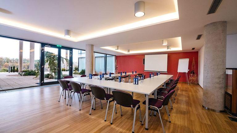 Uspořádejte firemní konferenci v našem růžovém salónku s kapacitou až 40 osob.